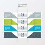 网站4颜色的设计横幅 库存例证