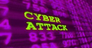 网络与噪声作用的攻击和计算机安全警告 免版税库存照片