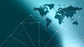 网络世界新技术抽象连接小点和导线 库存图片