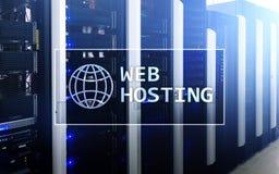 网络主持,提供仓库面积和通入为网站 免版税库存图片