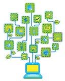 网络互联网结构树 免版税库存照片