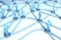 网络人 向量例证