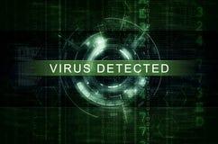 网络安全和反malware艺术品 库存例证