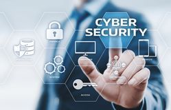 网络安全数据保护企业技术保密性概念 图库摄影