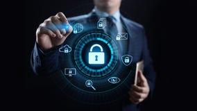 网络安全数据保护信息保密性互联网技术概念 向量例证