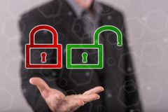 网络安全的概念 库存图片