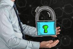 网络安全的概念 免版税图库摄影