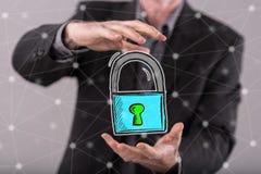 网络安全的概念 库存照片