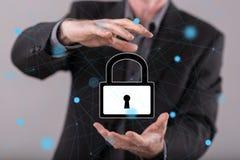 网络安全的概念 免版税库存照片
