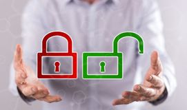 网络安全的概念 图库摄影