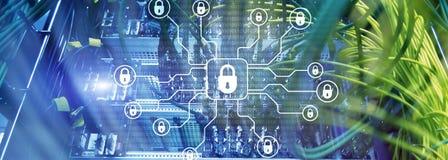网络安全,数据保护,信息保密性 互联网和技术概念 免版税库存图片