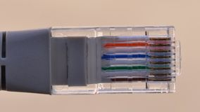 网络插座细节 图库摄影