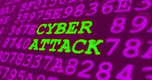 网络攻击和计算机安全警告-网络攻击 库存图片