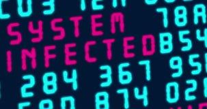 网络攻击和计算机安全 股票视频