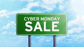 网络星期一在路标的销售文本 影视素材