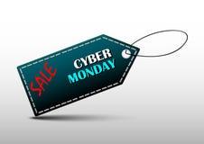 网络星期一标签横幅设计促进 库存照片