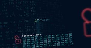 网络犯罪和secutrity使成环的动画 影视素材