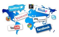 网络社交世界 免版税图库摄影