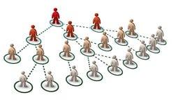 网络结构树 库存图片