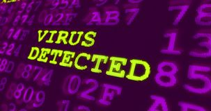 网络罪行和安全在紫外 库存例证