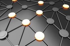 网络节点 库存例证
