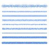 网络设计元素-蓝色页分切器线集合 皇族释放例证
