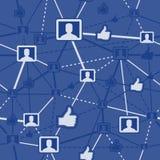 网络连接无缝的社交 免版税库存照片