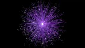网络连接爆炸紫色云彩摘要背景动画-新的动态技术行动五颜六色的录影 股票录像