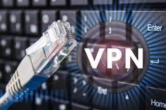网络连接的概念 在网络的审查 数据保护 免版税库存图片