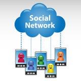 网络连接社交 库存图片