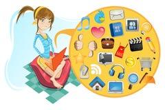 网络连接社交 免版税库存照片
