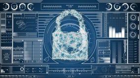 网络锁的数字综合 皇族释放例证