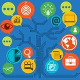 网联络和企业时事通讯计划  免版税库存照片