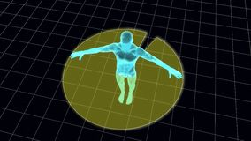 滤网身体扫描 库存图片