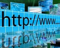 网际地址 库存图片