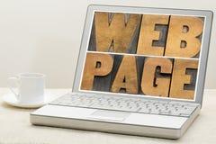 网页印刷术 库存图片