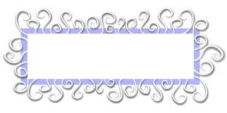 网页徽标空白蓝色 库存照片