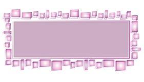 网页徽标紫色正方形 库存图片