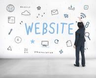 网页浏览器数字式象标志概念 库存照片