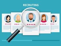 网页的,横幅,介绍聘用和补充概念 工作面试,补充机构传染媒介例证 向量例证