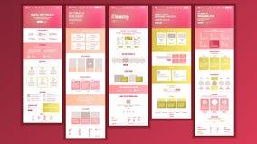 网页设计传染媒介 网站企业现实 购物的网上站点计划模板 Cyber星期一 计划战略 向量例证