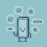 网络先生聪明的电话社交 免版税图库摄影