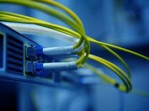 网络光纤缆绳 免版税库存照片