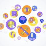 网络和服务器概念 免版税库存照片