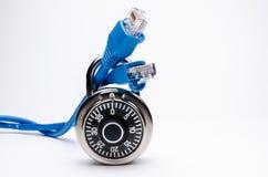 网络安全号码锁 库存照片