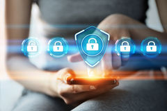 网络安全数据保护企业技术保密性概念 免版税库存图片
