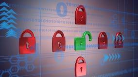 网络安全,动画 股票视频