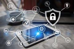 网络安全,数据保护,信息安全 技术企业概念 免版税库存照片