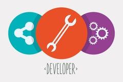 网络开发商设计 免版税库存图片