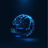 网络星期一销售2017年例证 大全球性销售 库存照片